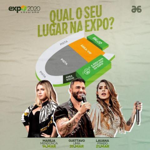 A Expo Umuarama está chegando e você não pode deixar de garantir seu ingresso para os Shows