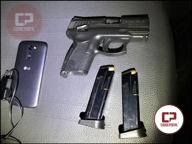 Polícia Militar de Goioerê recupera uma pistola roubada em Campo Mourão, estava em posse de um adolescente de 16 anos