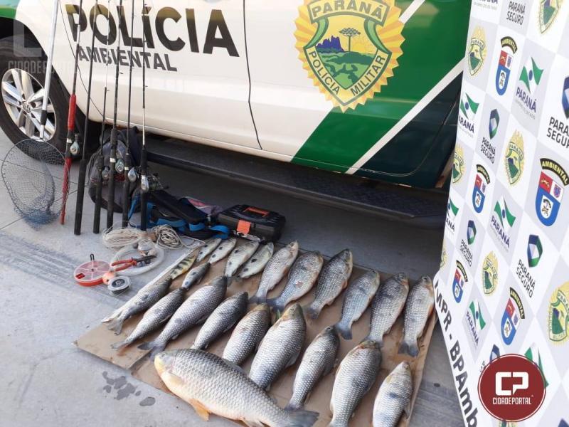 Polícia Ambiental de Umuarama apreende quase 20 kg de pescado nativo em período de Piracema