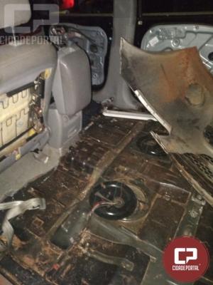 7° BPM apreende veículo preparado para uso de contrabando em Mariluz