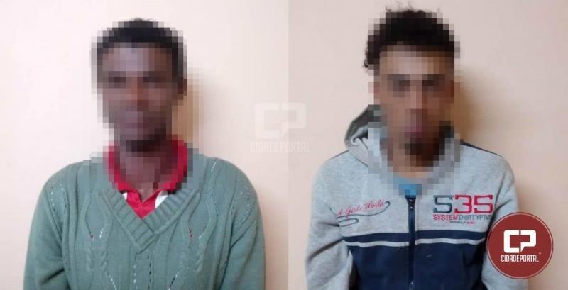 Duas pessoas foram presas pela Polícia Militar após furto de baterias de caminhão em Mariluz