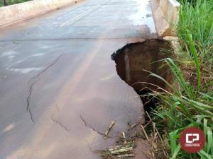Devido a fortes chuvas, ponte do Rio da Anta está interditada parcialmente