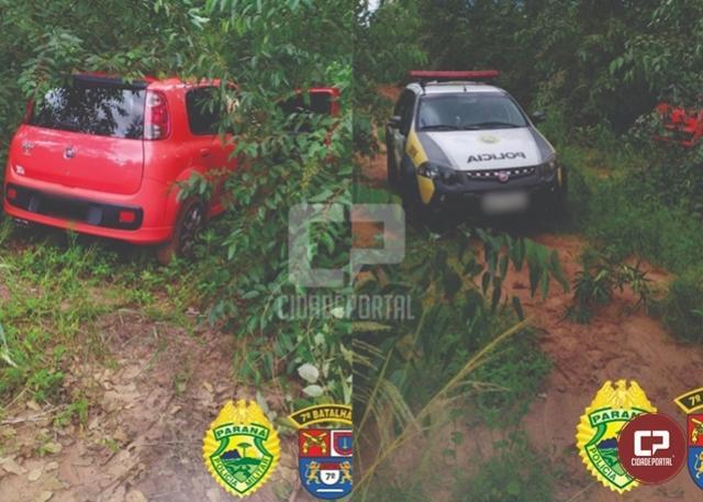 Policiais Militares do 7º BPM recuperam, em Mariluz, veículo roubado na cidade de Moreira Sales