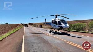 Van cai em ribanceira no anel viário de Campo Mourão na BR-369