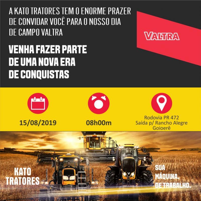Equipe kato Tratores convida Goioerê e Região para um dia de Campo Valtra