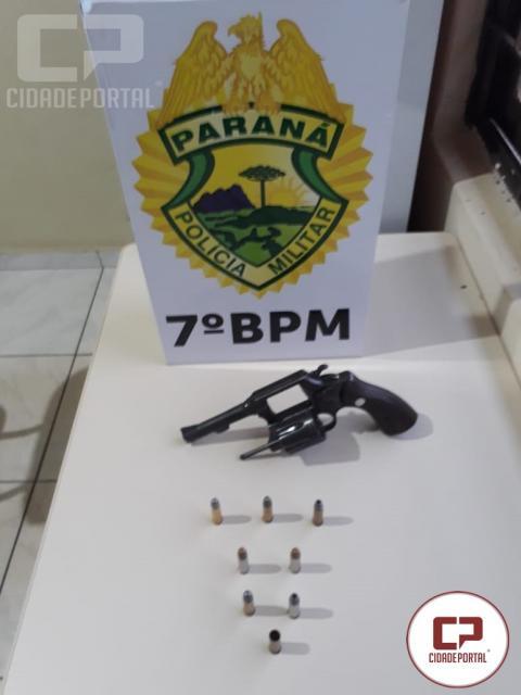 7° BPM e Polícia Civil prende dois homem e apreende arma de Fogo em Mariluz