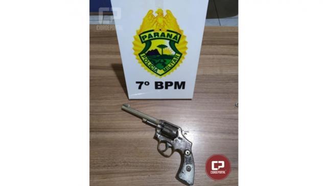 Polícia Militar prende homem por porte ilegal de arma de fogo em Mariluz