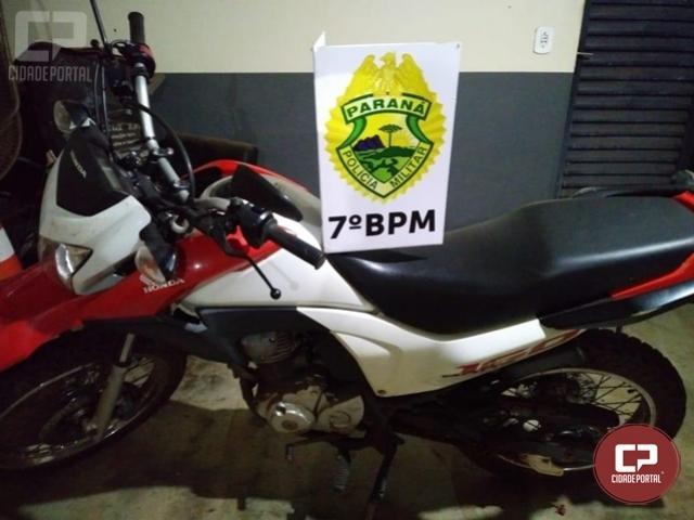7º BPM recupera em Mariluz veículo roubado