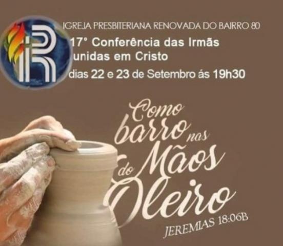 17° Conferência das irmãs Unidas em Cristo será realizada nos dias 22 e 23 em Mariluz