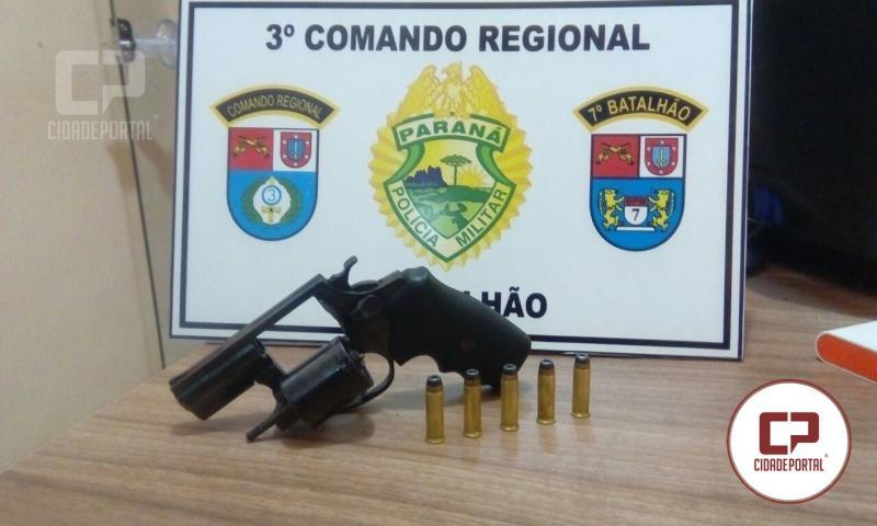 Após denúncias Polícia Militar prende uma pessoa por posse ilegal de arma em Mariluz