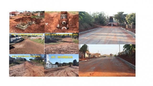 Grande Volume de Pavimentação asfáltica está sendo realizada pela Prefeitura Municipal de Mariluz