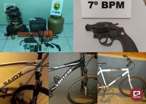 Produtos oriundos de furto foram recuperados pela Polícia Militar de Mariluz após denúncias