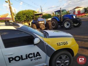 Policiais Militares recuperam dois tratores que foram roubados em Mariluz