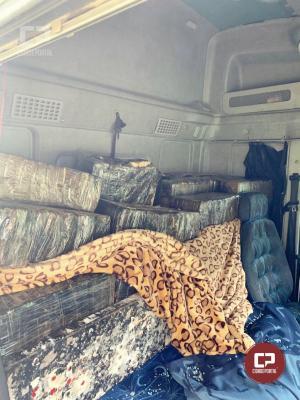 Posto Policial Rodoviário de Iporã apreende mais de meia tonelada de maconha e recupera caminhão