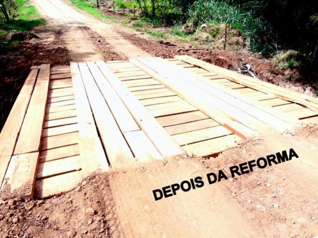 Ponte que dá acesso ao Bairro Água do Engano foi reformada