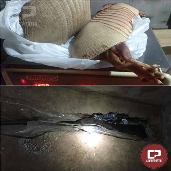 Polícia Ambiental prende três pessoas por posse irregular de arma de fogo em Mariluz