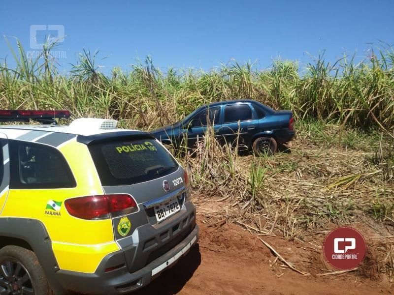 Polícia Militar de Mariluz recupera um veículo que havia sido furtado em residência na cidade