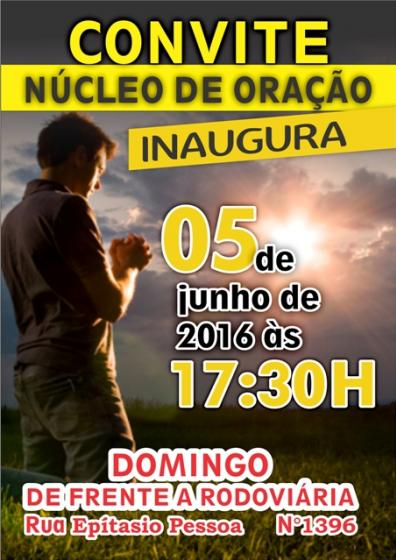 Núcleo de Oração Inaugura neste domingo,dia 05, em Mariluz