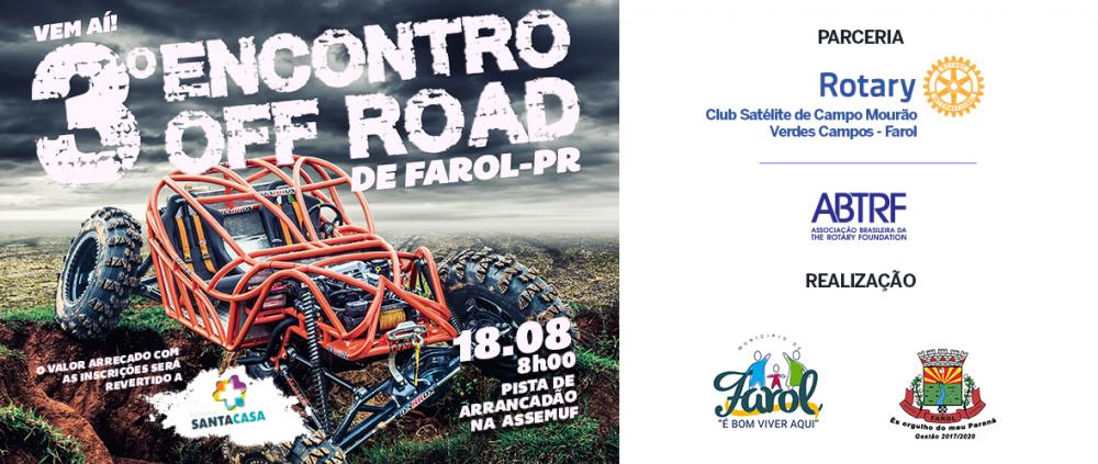 3º Encontro OFF-ROAD de Farol - PR - 18 de agosto de 2019