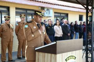Formatura Militar em comemoração aos 164 anos da PMPR