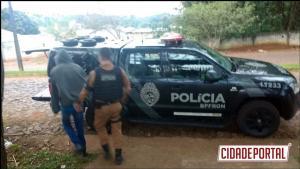 """BPFRON prende na cidade de Guaíra o """"vulgo Peu"""" foragido da penitenciária de Cruzeiro do Oeste"""