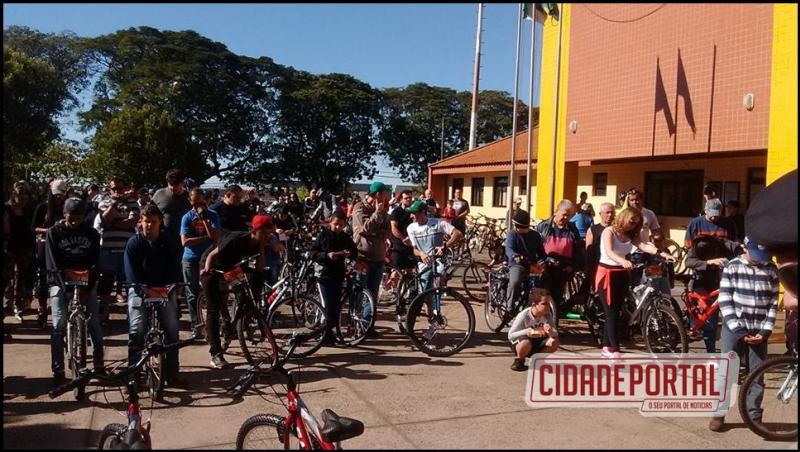 Sucesso o 4° Passeio Ciclístico alusivo ao Aniversário da PMPR, que comemora 163 anos de fundação