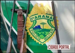 Polícia Ambiental de Umuarama apreende armas em Santa Isabel do Ivaí