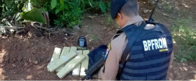 Polícia Militar através do BPFron realiza apreensão de maconha em Guaíra