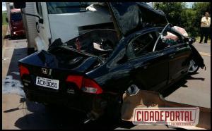 Acidente na PR-323 entre Jussara e Cianorte termina com dois mortos