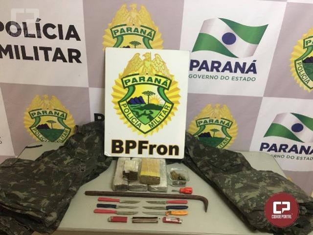 Batalhão de Polícia de Fronteira apreende 3 KG de entorpecente em Guaíra-PR