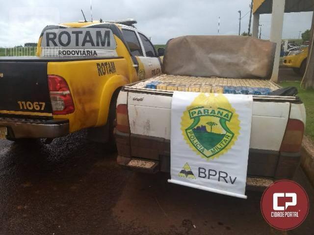 Equipe ROTAM da PRE de Cascavel apreende veículo carregado com cigarros em Pato Bragado