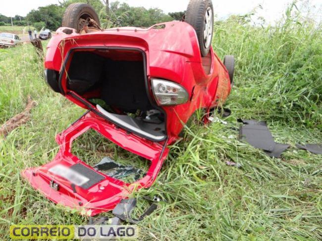 Uma pessoa fica ferida em acidente automobilístico entre Santa Helena e São José das Palmeiras