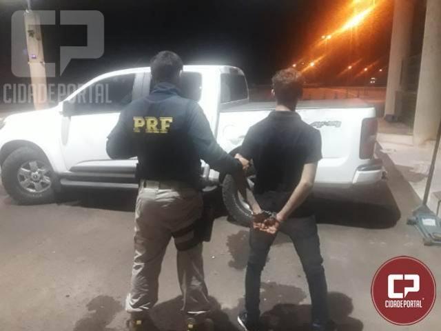 PRF recupera camioneta na ponte Ayrton Senna a caminho para o Paraguai