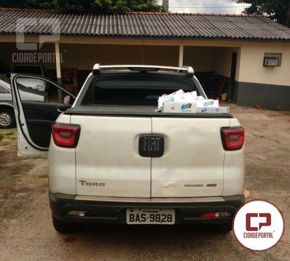 Um veículo carregando de contrabando foi recuperado pela Polícia Militar de Mariluz