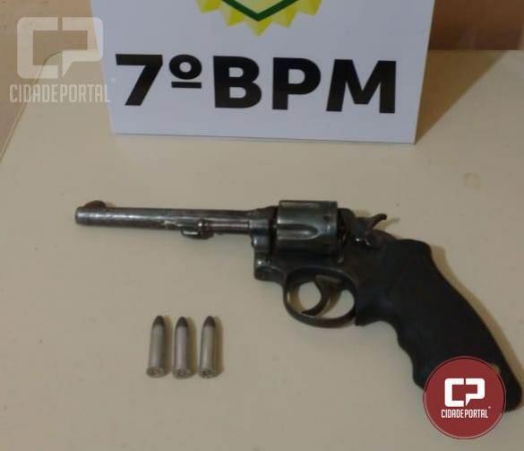 Polícia Militar de Mariluz prende um pessoa acusada de roubo com arma de fogo