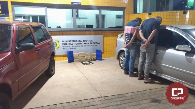 Polícia Rodoviária de Cascavel realiza apreensão de 38 KG de drogas em veículo com placas de São Paulo