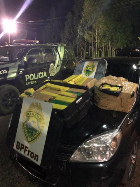 BPFron recupera veículo Furtado em Foz do Iguaçu, e apreende entorpecentes em Marechal Cândido Rondon