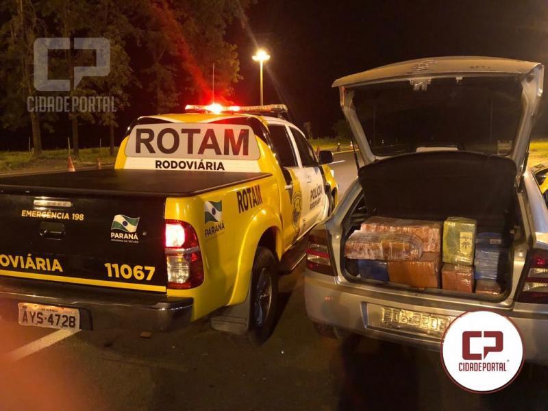 Equipe Rotam da 3ª Cia/BPRv - Cascavel apreende  427,580 KG de entorpecentes e recupera veículo