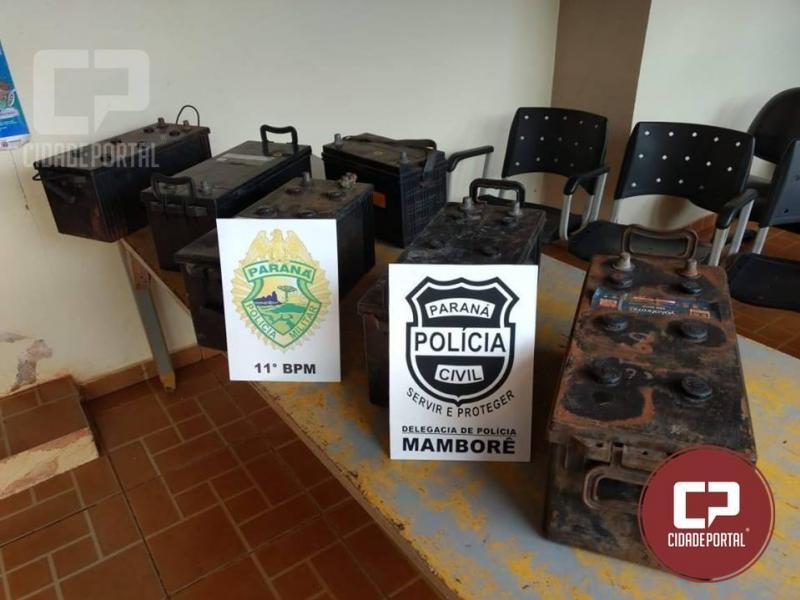 Em ação conjunta Polícias Militar e Civil prendem dois suspeitos e recuperam objetos furtados em Mamborê