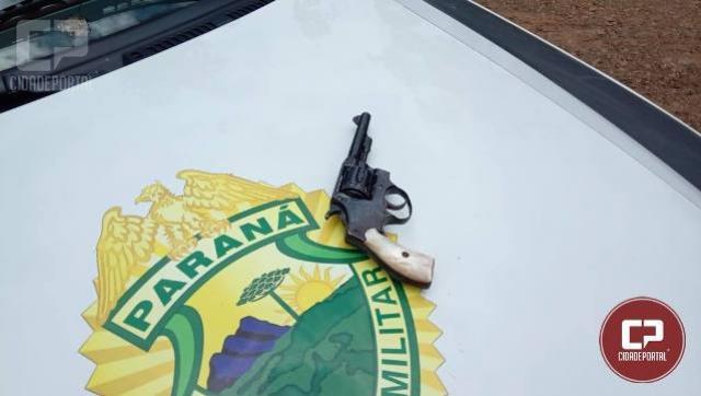 Polícia Militar de Iretama prende indivíduo com arma de fogo e carro roubado