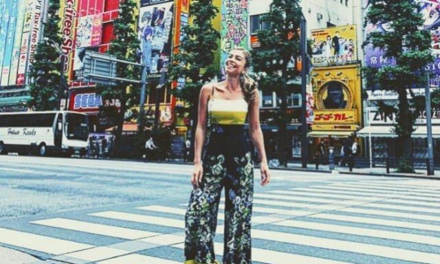 As férias de Grazi Massafera no Japão