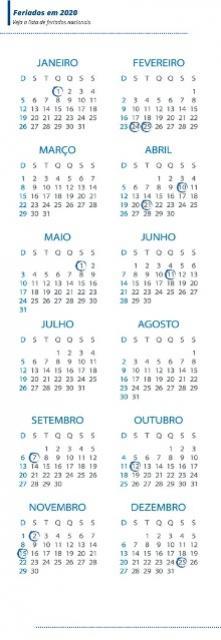 Ano novo terá 11 feriados nacionais em dias de semana