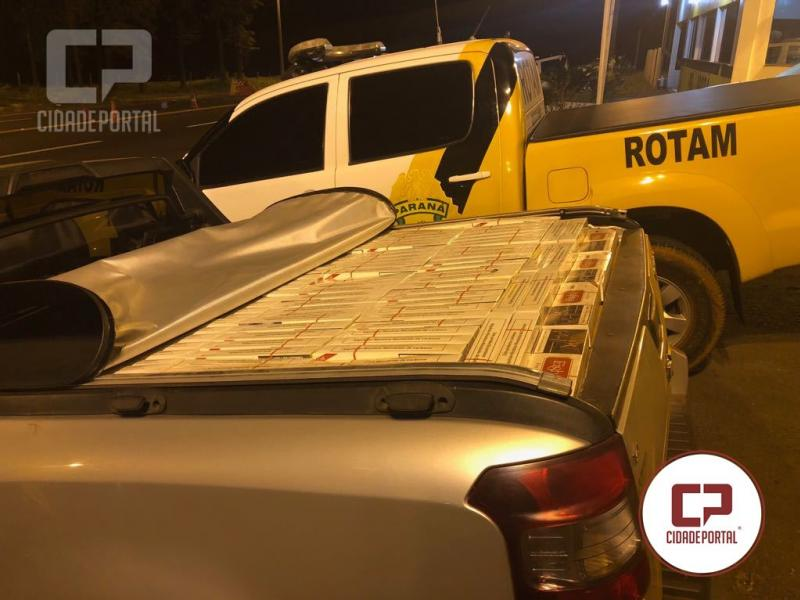 Rotam da 3ªCIA do BPRv apreende veículo carregado com cigarros contrabandeados