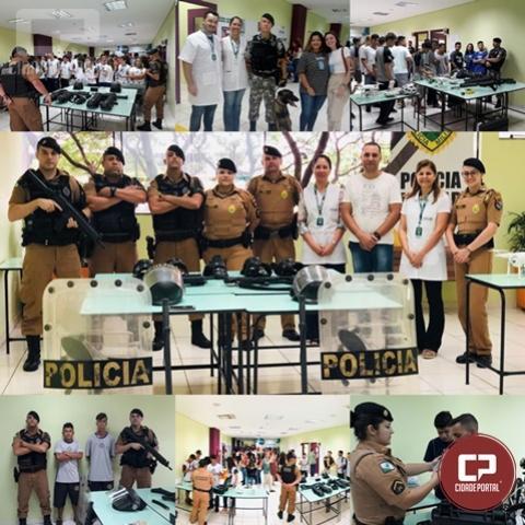Polícia Militar participa de mostra de profissões na UniFCV, em Maringá