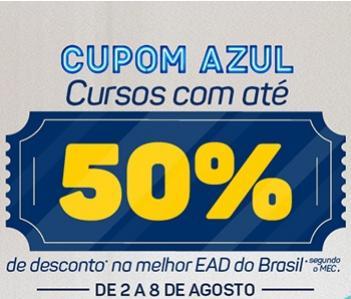 Cupom Azul: Unicesumar oferece descontos de até 50% em cursos superiores