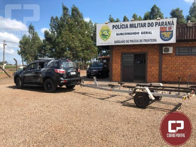 BPFron apreende mais de R$100.000,00 em contrabando e localiza reboque de embarcação furtado