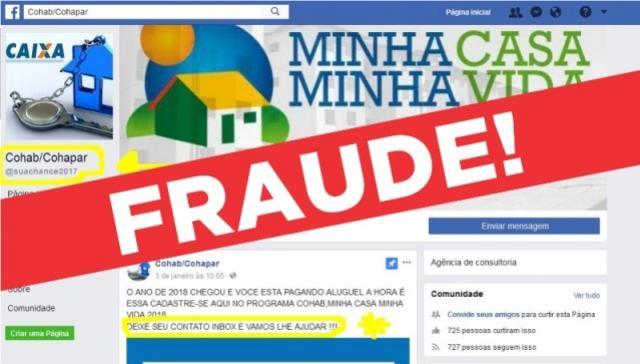 Cohapar alerta sobre fraude de falsos prestadores de serviços