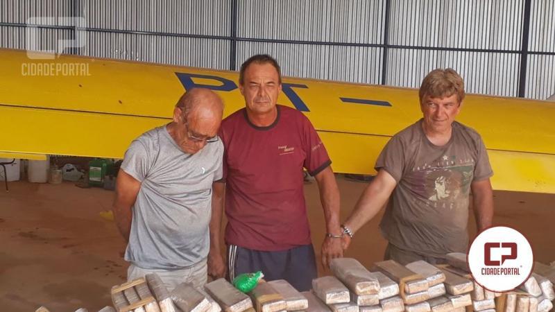 Ex-Morador de Goioerê foi preso em avião com 990 quilos de maconha em Paraguaçu Paulista