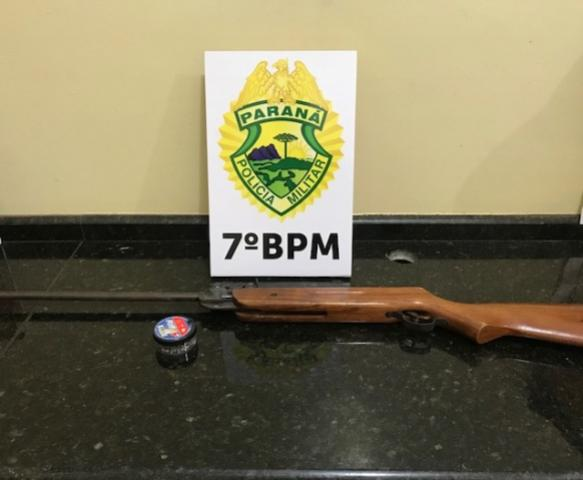 Polícia Militar do 7º Batalhão apreende arma de fogo em Cruzeiro do Oeste
