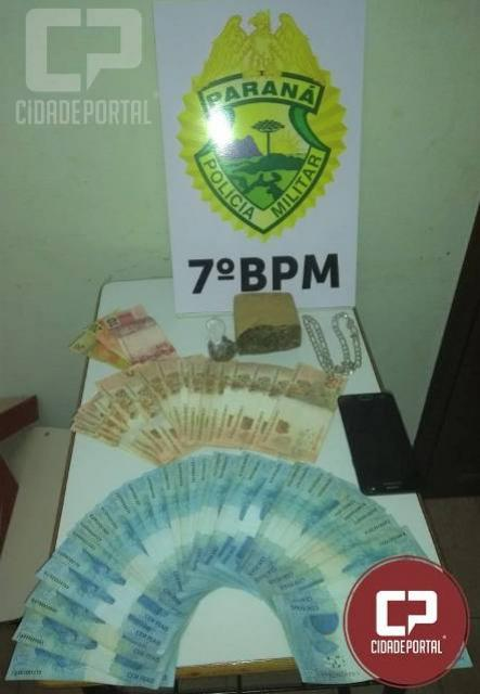 Policiais do 7º BPM apreendem drogas em Cruzeiro do Oeste